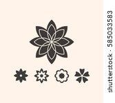 flower   Shutterstock .eps vector #585033583