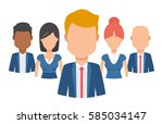 team of young man and woman... | Shutterstock .eps vector #585034147