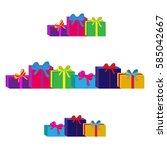 set of different colorful... | Shutterstock .eps vector #585042667