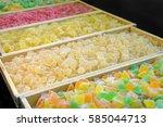 sweet fresh colorful fruit... | Shutterstock . vector #585044713