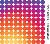 colorful smooth gradient dotted ... | Shutterstock .eps vector #585052423
