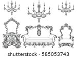 exquisite fabulous imperial... | Shutterstock .eps vector #585053743
