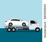 auto truck vector   Shutterstock .eps vector #585054043
