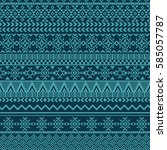 ethnic seamless pattern with... | Shutterstock .eps vector #585057787