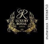 luxury decorative ornament... | Shutterstock .eps vector #585068713