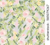 flowers background | Shutterstock .eps vector #585079267