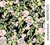flowers background | Shutterstock .eps vector #585079273