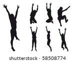 people jump   Shutterstock . vector #58508774