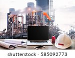 engineering industry concept in ... | Shutterstock . vector #585092773