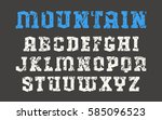 serif font in the style of...   Shutterstock .eps vector #585096523