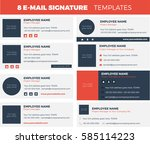set of 8 flat and modern e mail ... | Shutterstock .eps vector #585114223