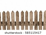 Wooden Fence Isolated White ...
