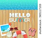 vector background template for... | Shutterstock .eps vector #585117103
