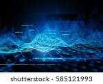 technical data communication... | Shutterstock . vector #585121993