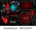 technical hud display with... | Shutterstock .eps vector #585122047