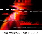 a redglitch noise distortion... | Shutterstock .eps vector #585127027