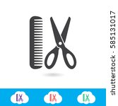 barber vector icon | Shutterstock .eps vector #585131017