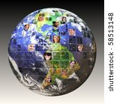 montage of the earth with a...   Shutterstock . vector #58513148
