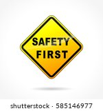 illustration of safety first... | Shutterstock .eps vector #585146977
