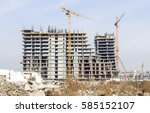 building of large modern... | Shutterstock . vector #585152107
