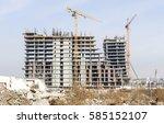 building of large modern...   Shutterstock . vector #585152107