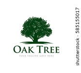 oak tree concept logo icon... | Shutterstock .eps vector #585155017