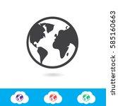 internet icon | Shutterstock .eps vector #585160663