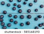 freshly picked blueberries | Shutterstock . vector #585168193