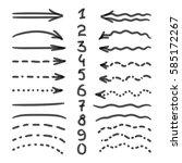 marker hand written doodle... | Shutterstock .eps vector #585172267