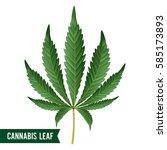 marijuana leaf vector. green... | Shutterstock .eps vector #585173893