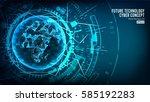 futuristic technology... | Shutterstock .eps vector #585192283