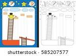 preschool worksheet for...   Shutterstock .eps vector #585207577