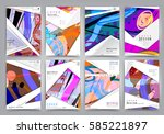abstract background  brochure... | Shutterstock .eps vector #585221897