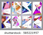 presentation template  brochure ... | Shutterstock .eps vector #585221957