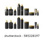 realistic black cosmetic cream... | Shutterstock .eps vector #585228197