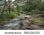 waterfall  of thailand. | Shutterstock . vector #585230153