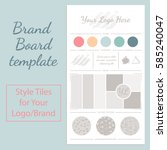 vector mood board logo template ... | Shutterstock .eps vector #585240047