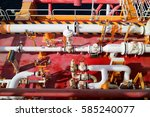 oil and gas processing industry.... | Shutterstock . vector #585240077