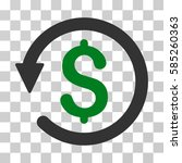 chargeback icon. vector... | Shutterstock .eps vector #585260363