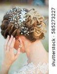 tender wedding stylish... | Shutterstock . vector #585273227