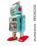 Small photo of confused robot toy