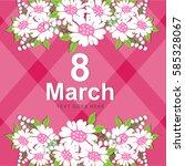 women's day card   Shutterstock .eps vector #585328067