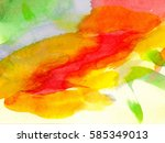 abstract watercolor hand... | Shutterstock . vector #585349013