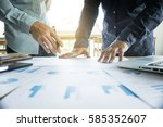 business team two colleagues... | Shutterstock . vector #585352607