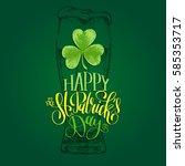 vector happy saint patrick's... | Shutterstock .eps vector #585353717