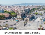 panoramic view of the city of... | Shutterstock . vector #585354557