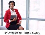 confident african american... | Shutterstock . vector #585356393