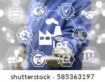 industrial internet of things... | Shutterstock . vector #585363197