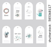easter gift tags and labels... | Shutterstock .eps vector #585368117