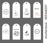 easter gift tags and labels... | Shutterstock .eps vector #585368207